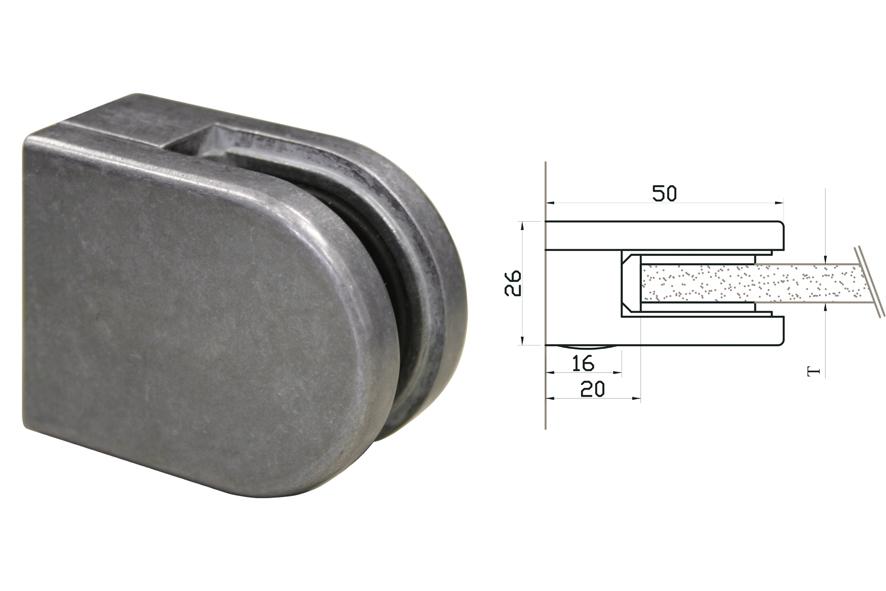 Glasklemmen Modell 00 für Vierkantrohr