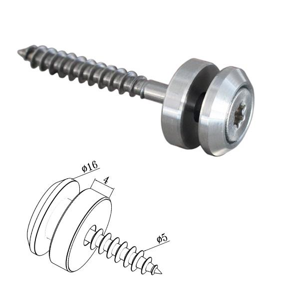 Punkthalter Ø 16 mm für Vierkantrohr Edelstahl V2A