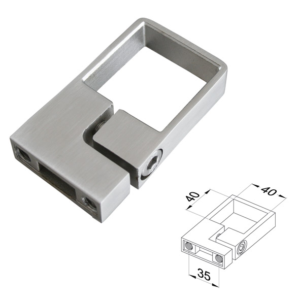 Edelstahl vierkantrohr 40×40