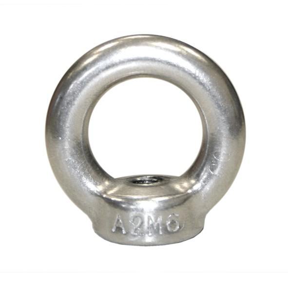 5 St. V2A Edelstahl Ringmutter M10