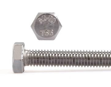 50St V2A Sechskantschrauben DIN933 M10x60