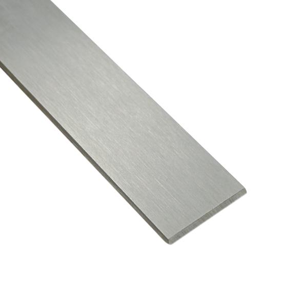 50 cm Edelstahl Flachstahl 40x5 mm V2A geschliffen