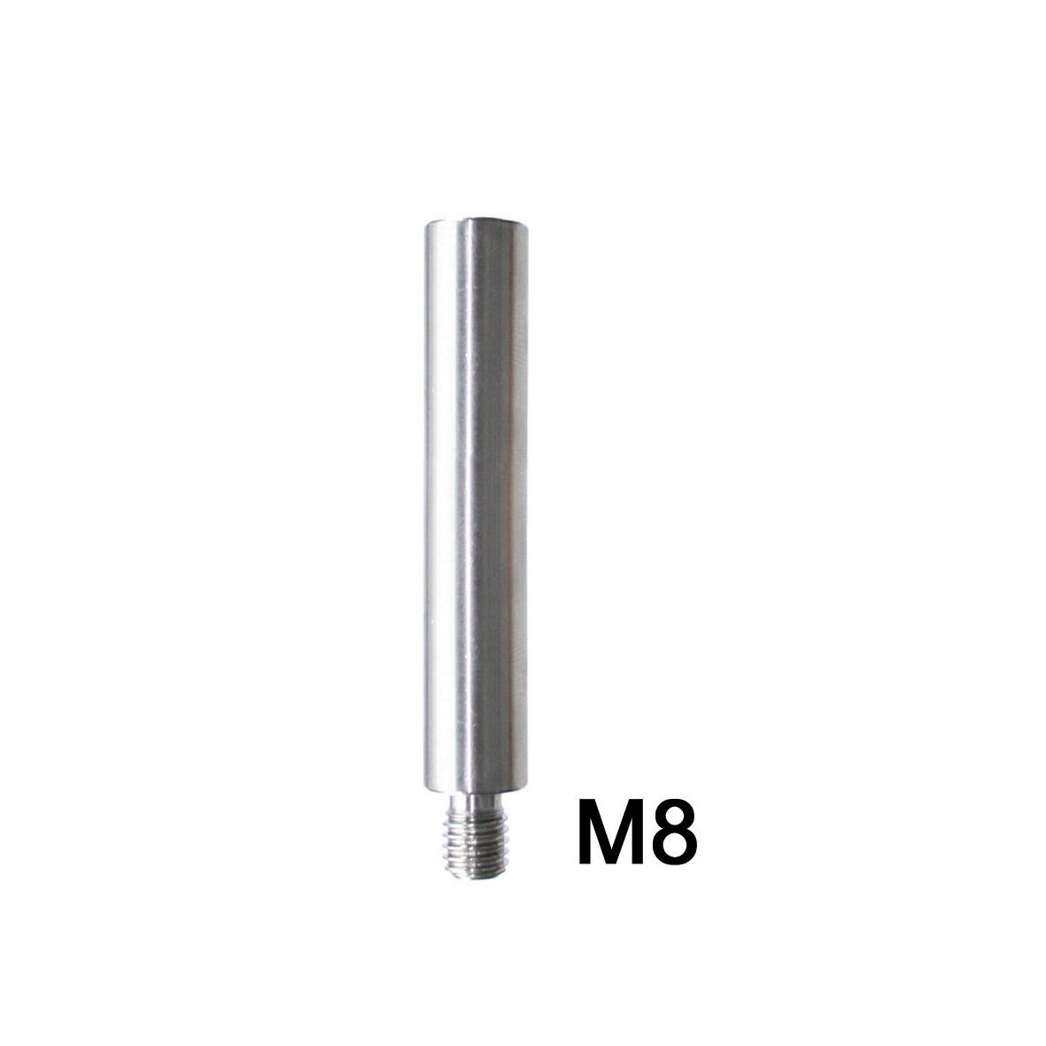 V2A Edelstahl Handlaufträgerstützen 100mm, Ø12mm gerade