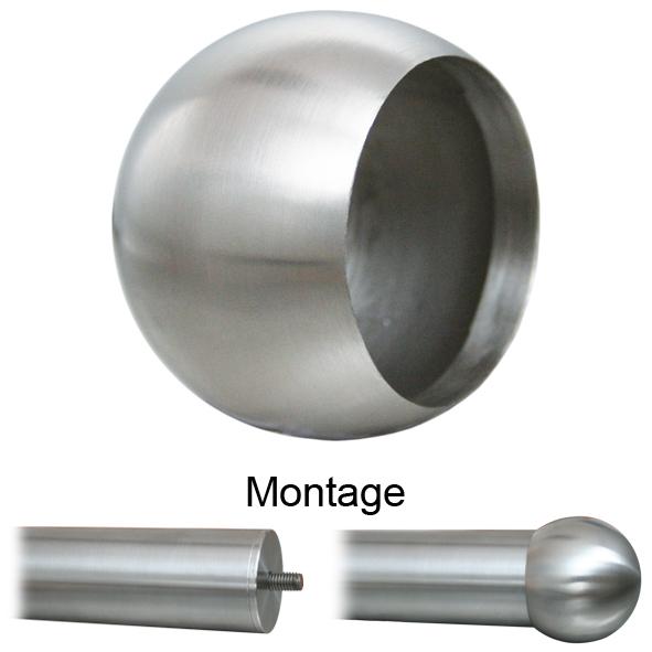 edelstahl abschlu kugel 45 mm mit 33er sackloch reinartz kleinteileversand. Black Bedroom Furniture Sets. Home Design Ideas