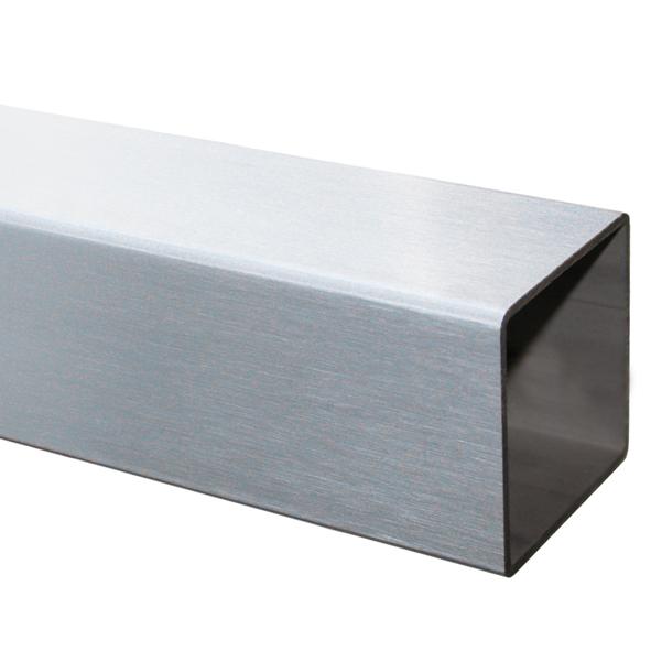 100 cm Edelstahl V2A Rohr 45x45x2,0 mm, geschliffen