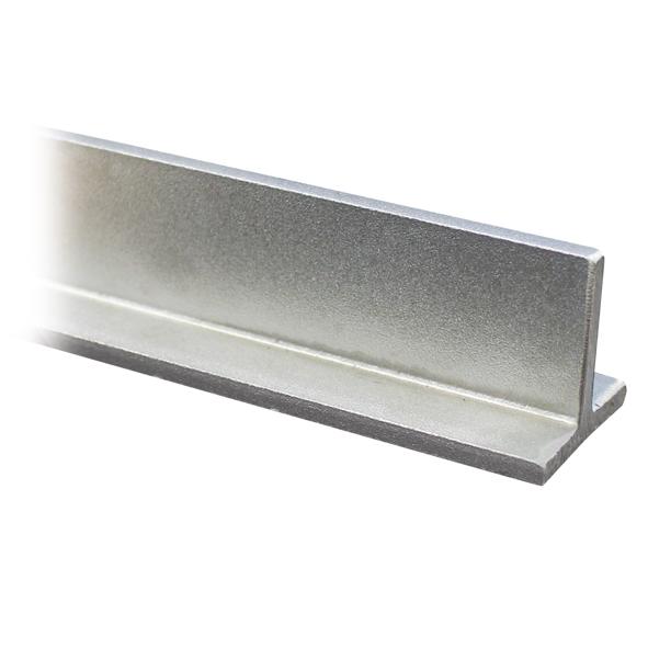 100 cm Edelstahl T-Profil 20x20x3 mm V2A ungeschliffen