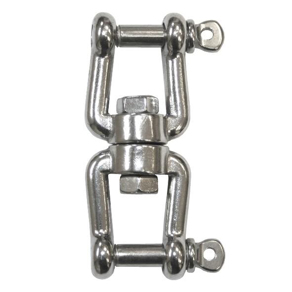 V4A Wirbel 6 mm, Gabel/Gabel, 66 mm lang