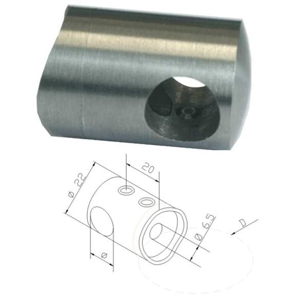 V2A Querstabhalter, Traversenhalter Ø12mm, für Rundrohr Ø42,4mm