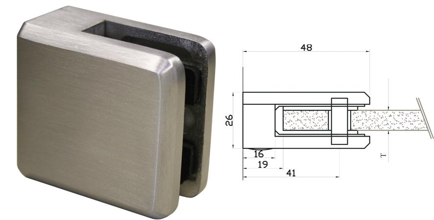 Glas Befestigung glasklemmen glashalter punkthalter halter für glas glascl