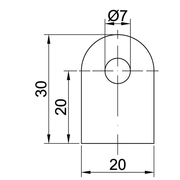 Anschweißlaschen, ST37, 30x20x5