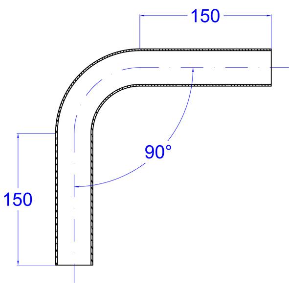 Rohr 88,9 x 2 mm Konstruktionsrohr geschliffen V2A 1 m 1000 mm 100 cm