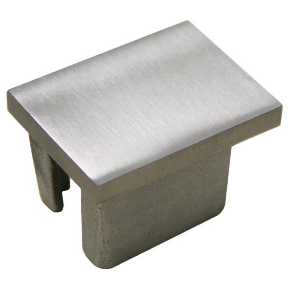 V2A Edelstahl Vierkantstopfen für Rohr 50x50x2,0 mm