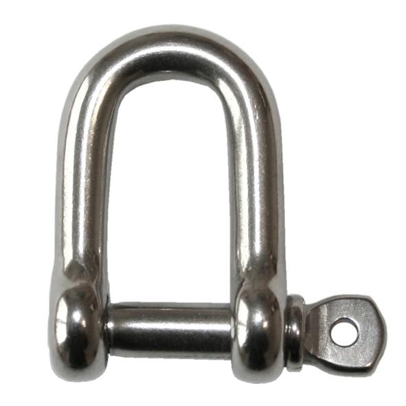 V4A Schäkel kurze Form, 6 mm